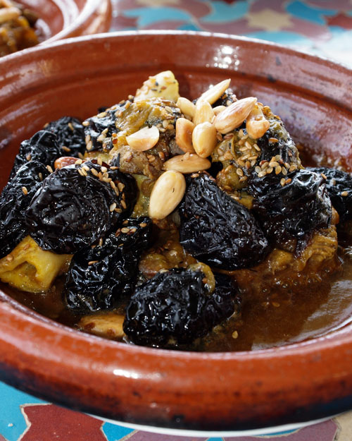 The prunes and almonds tagine